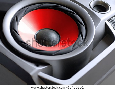 Woofer closeup. Technique for high-quality music.