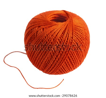 Wool ball - stock photo