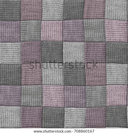 Wool Blanket Quilt Seamless Texture Patchwork Stock Illustration