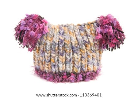 Wool hat for baby - stock photo