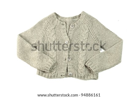 wool sweater isolated on white background - stock photo