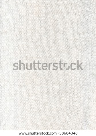 Wool white fabric textile texture to background - stock photo