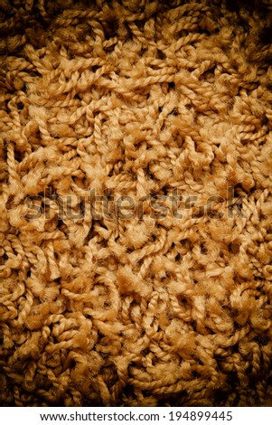 woolen background. carpet with strings texture  - stock photo