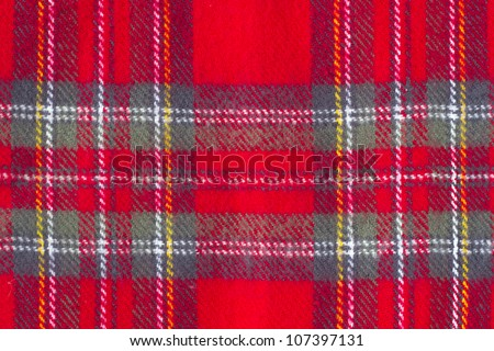 Woolen checkered texture - can be used as background - stock photo