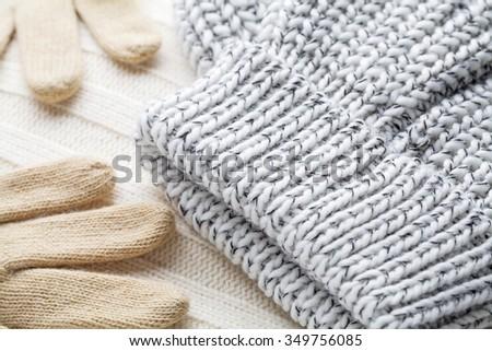 woolen clothes winter - stock photo
