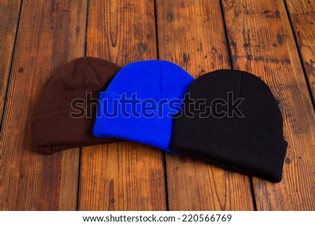 Woolen hats - stock photo