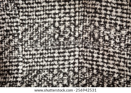 Woolen houndstooth texture - stock photo