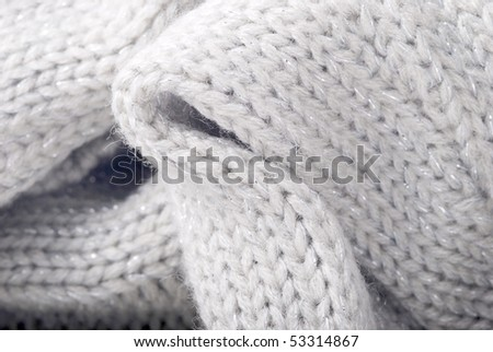 Woolen knitting closeup - stock photo