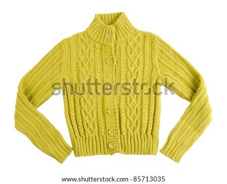 woollen cardigan - stock photo