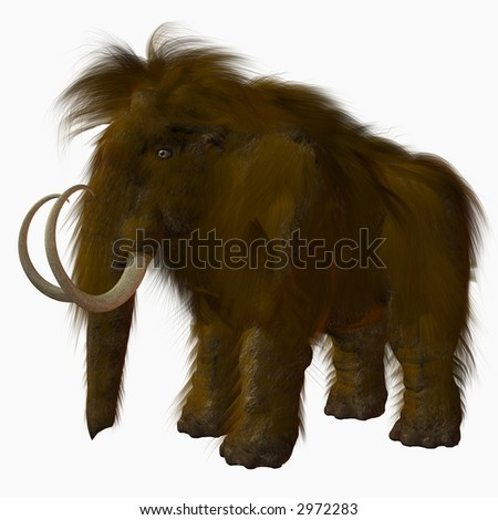 Woolly Mammoth - stock photo