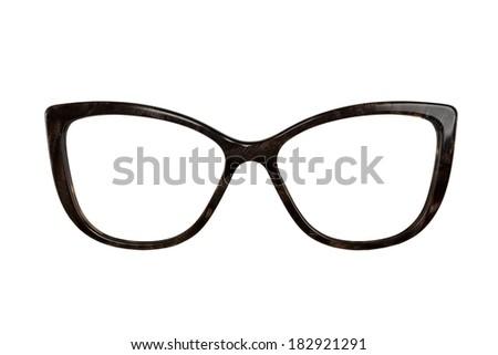 woomen glasses isolated on white - stock photo