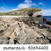 worbarrow bay on the south west coast path in dorset - stock photo