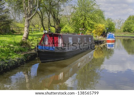 worcester and birmingham canal alvechurch worcestershire uk - stock photo