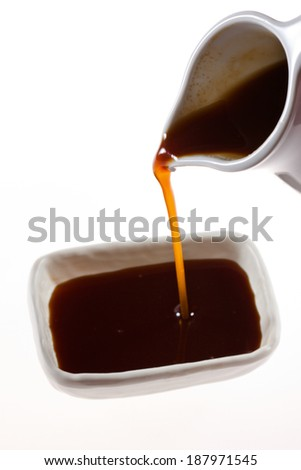 Worcestershire sauce  - stock photo
