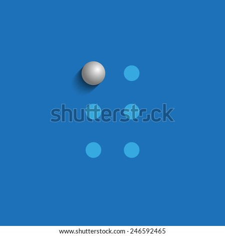 Word A in Braille on blue background - stock photo