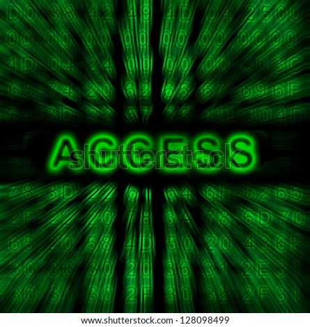 word Access on digital background - stock photo