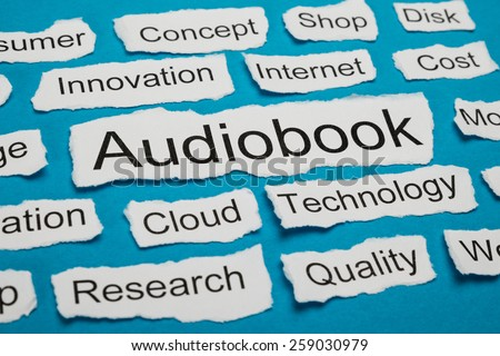 Word Audiobook On Piece Of Paper Salient Among Other Related Keywords