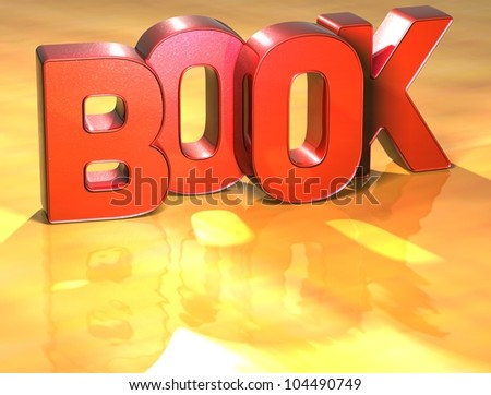 Word Book on yellow background (high resolution 3D image)