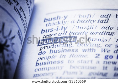 word business in dictionary - stock photo