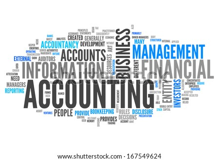 Word Cloud Accounting Stock Illustration 167549624 - Shutterstock