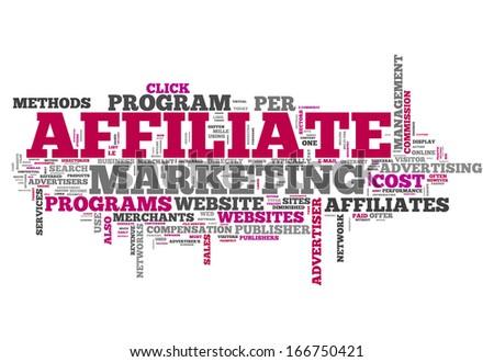 Word Cloud Affiliate Marketing - stock photo