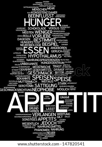 Word cloud - appetite