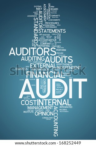 Word Cloud Audit - stock photo