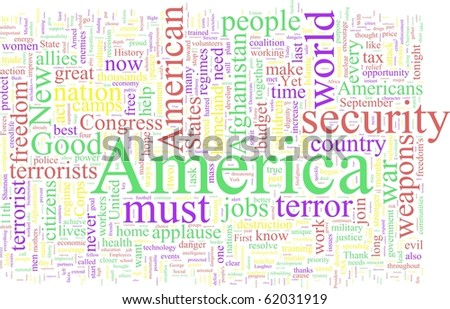 Word Cloud based on George W. Bush's speeches