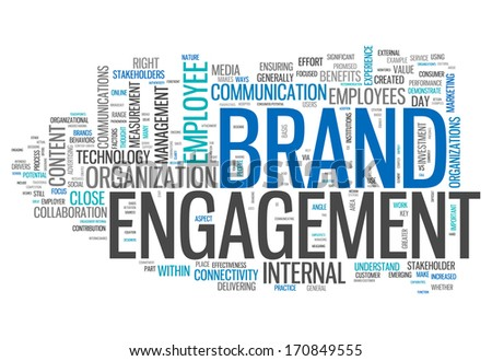 Word Cloud Brand Engagement - stock photo