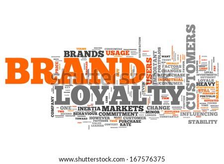 Word Cloud Brand Loyalty - stock photo
