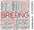 Word cloud - briefing - stock