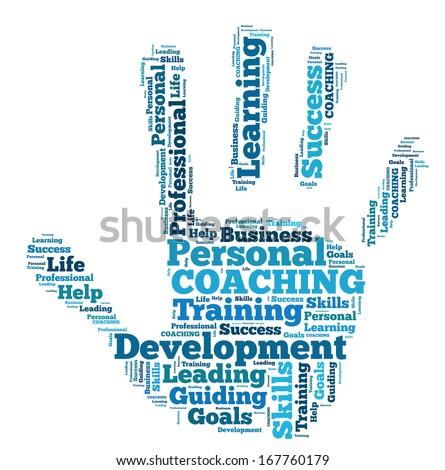 Word Cloud Coaching - stock photo