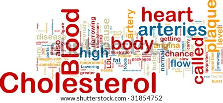 Word cloud concept illustration of  blood cholesterol - stock photo
