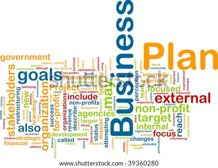 Word cloud concept illustration of business plan - stock photo