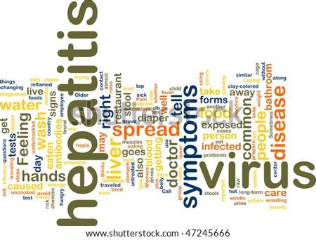 Word cloud concept illustration of  hepatitis virus - stock photo