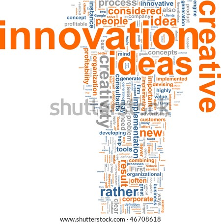 Word cloud concept illustration of innovation creative - stock photo