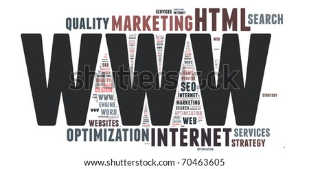 Word cloud concept illustration of INTERNET - stock photo