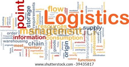 Word cloud concept illustration of logistics management - stock photo