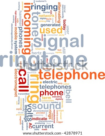 Word cloud concept illustration of telephone ringtone
