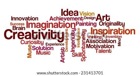 Word Cloud - Creativity - stock photo