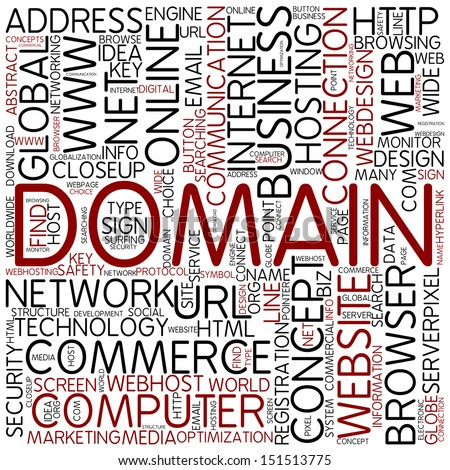 Word cloud - domain - stock photo