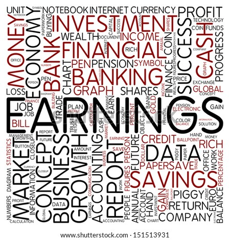 Word cloud - earnings