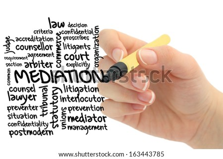 Word cloud for Mediation - stock photo