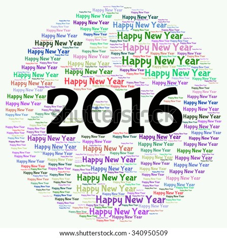 word cloud for new year 2016