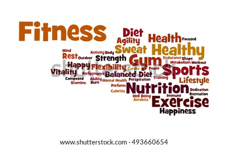 word cloud illustrating significance fitness working stock