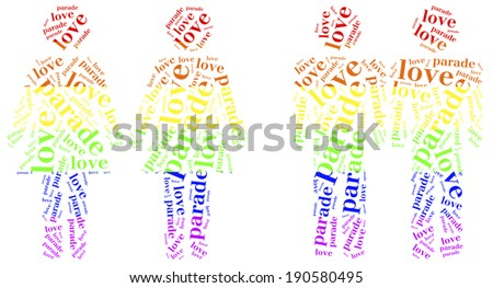 Word cloud illustration homosexuality related - stock photo