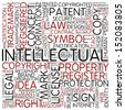 Word cloud - intellectual - stock vector