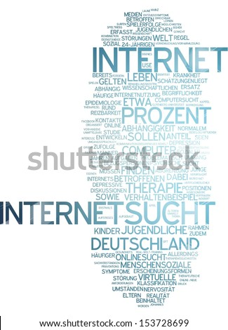 Word cloud -  internet addiction