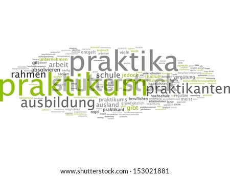 Word Cloud - Internship - stock photo