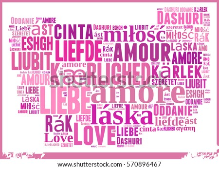 Word Cloud Love In Different Languages